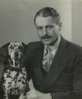 (Ninian) John Frederick Hanbury-Tracy with his dog, by Bassano Ltd - NPG x85631