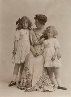 Ethel Lucy (née Hare), Lady Perrott; Marie Louise Priscilla; Helena Ruth (née Perrott), Viscountess Maitland, by Bassano Ltd - NPG x85686