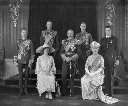 King George V with his family, by H.R. Wicks, for  Bassano Ltd - NPG x95761