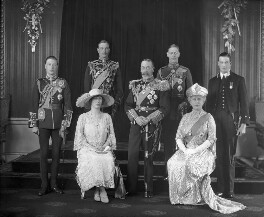 King George V with his family, by Bassano Ltd - NPG x95762