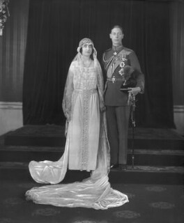 The wedding of King George VI and Queen Elizabeth, the Queen Mother, by Bassano Ltd - NPG x95766