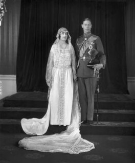 The wedding of King George VI and Queen Elizabeth, the Queen Mother, by Bassano Ltd - NPG x95767