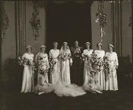 The wedding of Prince George, Duke of Kent and Princess Marina, Duchess of Kent, by Bassano Ltd, 29 November 1934 - NPG x95788 - © National Portrait Gallery, London