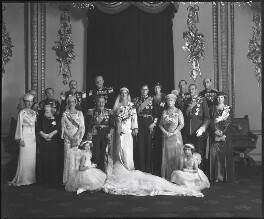 The wedding of Prince George, Duke of Kent and Princess Marina, Duchess of Kent, by Bassano Ltd - NPG x95790