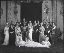 The wedding of Prince George, Duke of Kent and Princess Marina, Duchess of Kent, by Bassano Ltd, 29 November 1934 - NPG x95790 - © National Portrait Gallery, London
