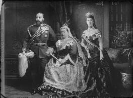 King Edward VII; Queen Victoria; Queen Alexandra, by and after Alexander Bassano - NPG x95831