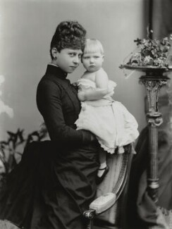 Princess Victoria of Prussia with Ena of Battenberg, by Alexander Bassano, 1888 - NPG x95917 - © National Portrait Gallery, London