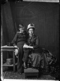 Ernest Ludwig, Grand Duke of Hesse and by Rhine; Princess Alice, Grand Duchess of Hesse, by Alexander Bassano - NPG x95922