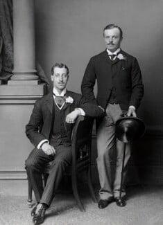 Albert Victor, Duke of Clarence; Captain Greville, by Alexander Bassano - NPG x96032