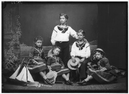 The children of King Edward VII, by Alexander Bassano, 1875 - NPG x96037 - © National Portrait Gallery, London