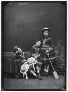 The daughters of King Edward VII, by Alexander Bassano, 1875 - NPG x96039 - © National Portrait Gallery, London