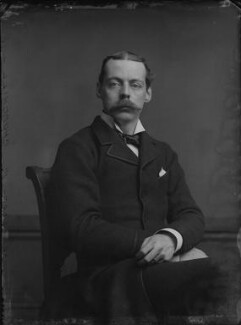 Lord Randolph Churchill, by Alexander Bassano, 1883 - NPG x96128 - © National Portrait Gallery, London