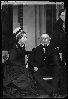 Catherine Gladstone (née Glynne); William Ewart Gladstone, by Alexander Bassano - NPG x96223
