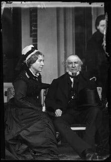 Catherine Gladstone (née Glynne); William Ewart Gladstone, by Alexander Bassano, 10 March 1883 - NPG x96223 - © National Portrait Gallery, London