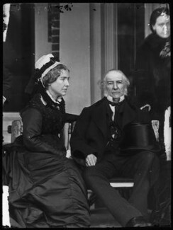 Catherine Gladstone (née Glynne); William Ewart Gladstone, by Alexander Bassano - NPG x96226