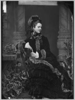 Georgina Elizabeth Ward (née Moncreiffe), Countess of Dudley, by Alexander Bassano - NPG x96396