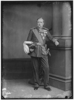 Robert Cornelis Napier, 1st Baron Napier of Magdala, by Alexander Bassano, 1881? - NPG x96399 - © National Portrait Gallery, London