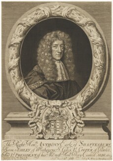 Anthony Ashley-Cooper, 1st Earl of Shaftesbury, by Robert White, printed and sold by  John King, sold by  Robert White - NPG D11017