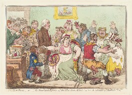 Edward Jenner ('The cow pock - or - the wonderful effects of the new inoculation!'), by James Gillray, published by  Hannah Humphrey - NPG D13037