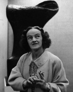Barbara Hepworth, by Peter Keen, late 1950s - NPG x88862 - © estate of Peter Keen / National Portrait Gallery, London