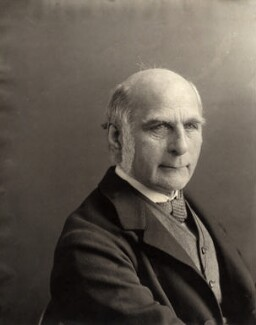 Sir Francis Galton, by Eveleen Myers (née Tennant) - NPG x19815