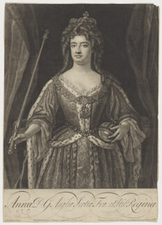 Queen Anne, by John Faber Jr, after  John Closterman, 1702 or after - NPG D11047 - © National Portrait Gallery, London