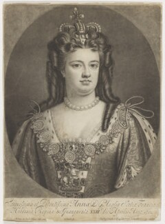 Queen Anne, by John Smith, after  Sir Godfrey Kneller, Bt - NPG D11048