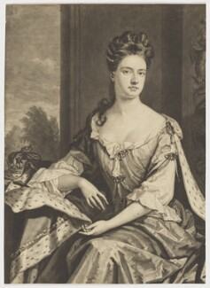 Queen Anne when Princess of Denmark, by John Smith, after  Sir Godfrey Kneller, Bt - NPG D11049