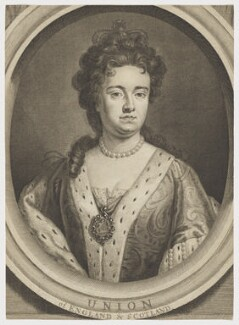 Queen Anne, by George Vertue, after  Sir Godfrey Kneller, Bt - NPG D11052