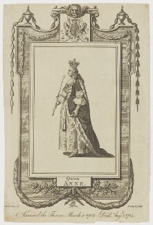 Queen Anne, by William Grainger, after  Samuel Wale - NPG D11053