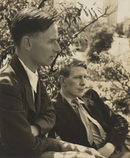 Christopher Isherwood; W.H. Auden, by Louise Dahl-Wolfe - NPG x15194