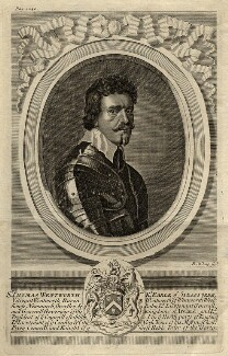 Thomas Wentworth, 1st Earl of Strafford, by Robert White, after  Sir Anthony van Dyck - NPG D11061