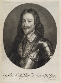 King Charles I, published by John Smith, after  Sir Anthony van Dyck, circa 1683-1729 - NPG D11914 - © National Portrait Gallery, London
