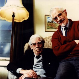 W.V. Awdry; Christopher Awdry, by Trevor Ray Hart, 1995 - NPG x76551 - © Trevor Ray Hart