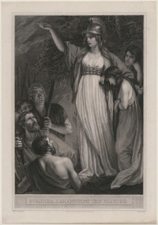 Boadicea Haranguing the Britons (called Boudicca (Boadicea)), by William Sharp, after  John Opie, published 1793 - NPG D11080 - © National Portrait Gallery, London