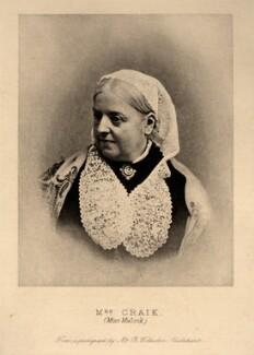 Dinah Maria Craik (née Mulock), by B. Wollaston - NPG x6999