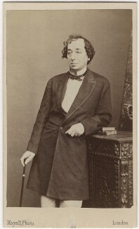 Benjamin Disraeli, Earl of Beaconsfield, by Mayall - NPG Ax5061