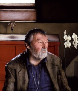 John Robert Fowles, by Tomas Watson, 2001 - NPG  - © National Portrait Gallery, London