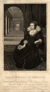 Aletheia Talbot, Countess of Arundel, by William Henry Worthington, after  Daniel Mytens - NPG D11108