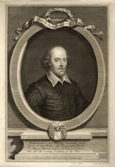 William Shakespeare, by and sold by George Vertue - NPG D11109