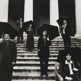 Gus Baker; John Coleman; Sue McGaw; Rea Reason; Peter Saville; Barbara Wilson, by Louise Bobbé, 19 December 2000 - NPG  - © National Portrait Gallery, London