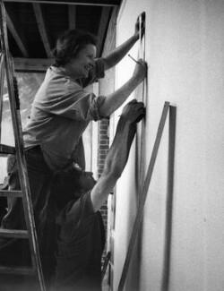 Rachel Whiteread; Phil Brown, by Johnnie Shand Kydd - NPG x87412
