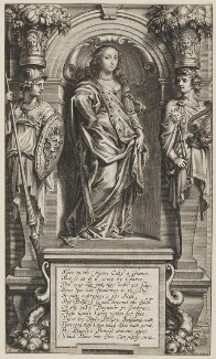 Margaret Cavendish (née Lucas), Duchess of Newcastle upon Tyne, by Pieter Louis van Schuppen, after  Abraham Diepenbeeck, circa 1655-1658 - NPG D11111 - © National Portrait Gallery, London