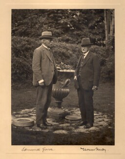 Sir Edmund William Gosse; Thomas Hardy, by William Bellows, 29 June 1927 - NPG x17364 - © National Portrait Gallery, London