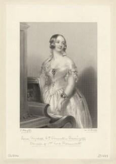 Jane Elizabeth (née Liddell), Viscountess Barrington, by William Henry Mote, after  John Hayter - NPG D11125