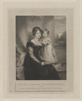 Princess Victoria, Duchess of Kent and Strathearn; Queen Victoria, by and published by William Skelton, after  Sir William Beechey, published 1823 - NPG D11130 - © National Portrait Gallery, London