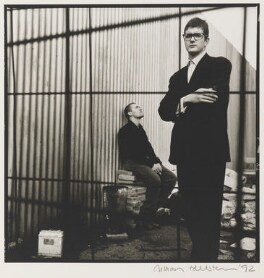 Damien Hirst; Jay Jopling, by Jillian Edelstein, 5 November 1992 - NPG x88991 - © Jillian Edelstein / Camera Press