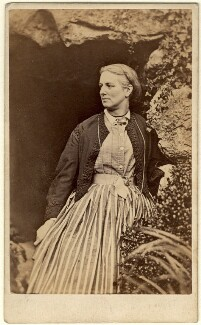 Charlotte Mary Yonge, by Unknown photographer, 1860 - NPG  - © National Portrait Gallery, London