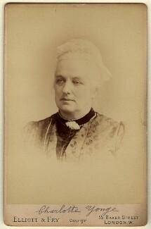 Charlotte Mary Yonge, by Elliott & Fry - NPG x29553