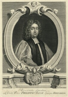 Philip Bisse, by George Vertue, after  Thomas Hill - NPG D11131